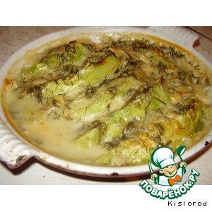 Рецепт: Молодая капуста под легким соусом