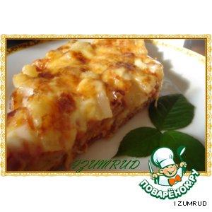 Рецепт: Пицца с ананасом и ветчиной