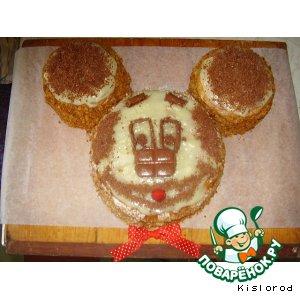 """Рецепт: Торт """"Микки Маус"""""""