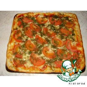 Рецепт Грибная пицца по-киевски