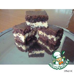 Рецепт: Brownies шоколадный с кокосом