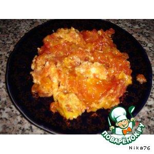 Рецепт: Яичница с помидорами