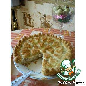 Рецепт: Пирог луково-рыбный по-самарски
