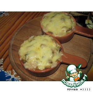 Рецепт: Жульен с курицей и грибами
