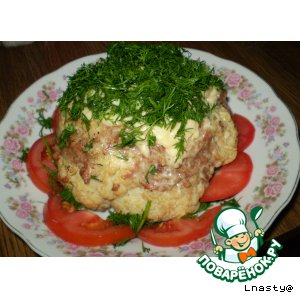 Рецепт: Фаршированная цветная капуста Шапка Мономаха