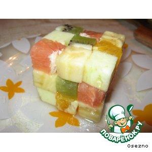 Рецепт: Фруктовый кубик-рубик