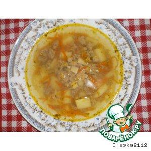 Рецепт: Суп с кнелями из печени