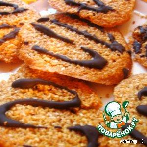 Рецепт: Постное овсяное печенье Экспромт