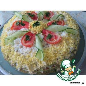 Рецепт: Закусочный торт из кабачков