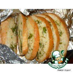 Рецепт: Чесночный хлеб с зеленью