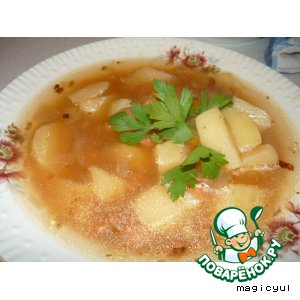 Рецепт Быстрый фасолевый суп