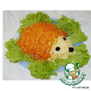 """Рецепт: Салат """"Ежик"""" (вариант)"""