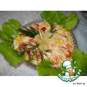 Рецепт: Салат «Двойной праздник»