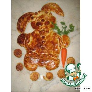 Рецепт: Пирог с курагой Зайчик