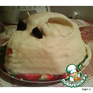 """Рецепт: """"Мышь белая"""" тортик"""