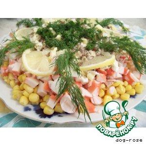 Рецепт: Салат «Морской прибой»