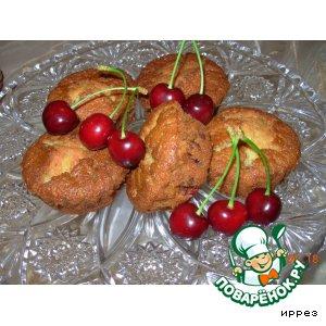 Рецепт: Мини-кексы с черешней
