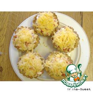 Рецепт Тарталетки с салатом из крабовых палочек
