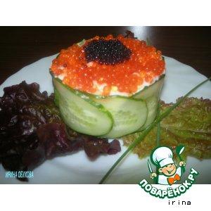 Рецепт: Салат в виде тортика