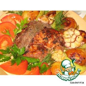 Рецепт: Мясо «Дуэт» в темном пиве с вишнями