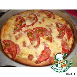 Рецепт: Пицца с картофельной начинкой