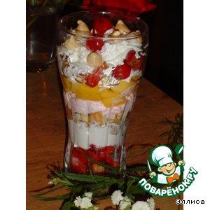 Слоеный десерт Радуга