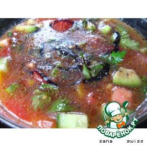 Рецепт: Холодный  овощной суп с авокадо