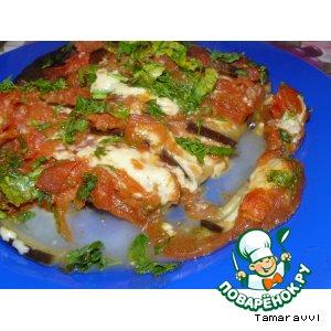 Рецепт Баклажаны, фаршированные сыром и томатами