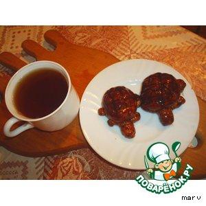 Рецепт: Печенье Черепашки к чаю