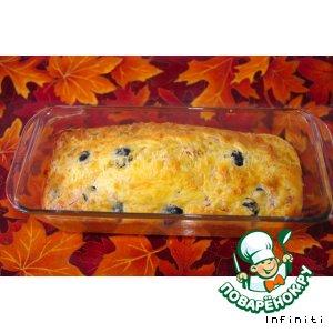 Рецепт: Кейк с сыром и оливками