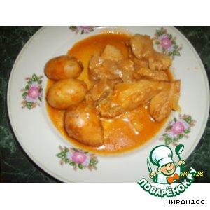 Рецепт: Пикантная свинина с мудрeным маринадом
