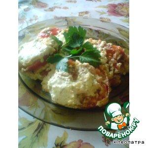 Рецепт: Запеченные кабачки с помидорами и сыром