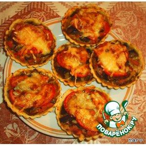 Рецепт: Пиццы-корзиночки