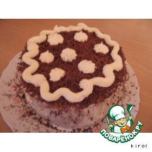Рецепт: Черемуховый торт рулет