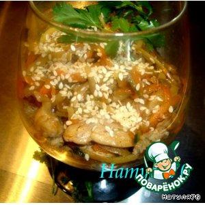 Рецепт: Теплый закусочный салат