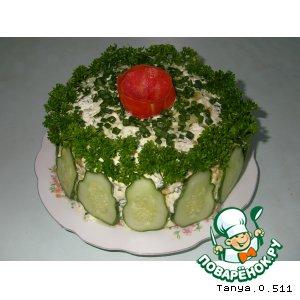 """Рецепт: Закусочный тортик """"Кабачок"""""""