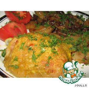 Рецепт: Курица в кефирно-карриевом маринаде