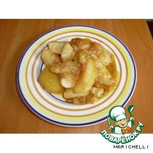 Рецепт: Картофель с баклажанами