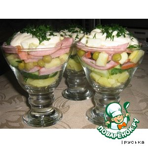 Рецепт: Салат праздничный  картофельный