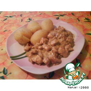 Рецепт: Куриное филе в соусе карри