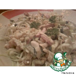 "Салатик  ""Простяшка"" – кулинарный рецепт"