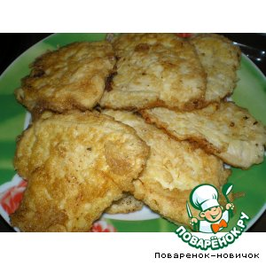 Рецепт Биточки из куриного филе