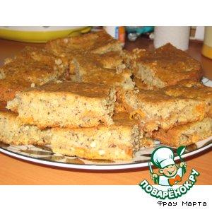 Рецепт: Абрикосово-ореховый пирог