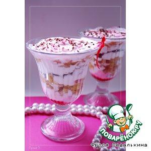 Рецепт: Десерт со сливками Женское счастье