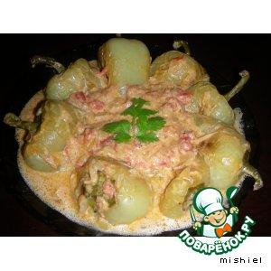 Рецепт: Перцы в сметанном соусе