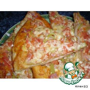 Рецепт: Пицца с ветчиной