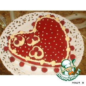 Рецепт: Десерт Малиновое сердце