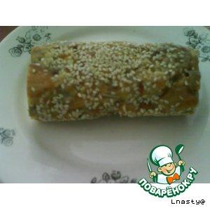 Рецепт: Сладкая колбаска из карамелек