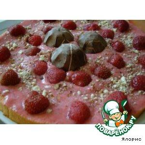 "Рецепт: Торт-мороженое ""Клубничка"""
