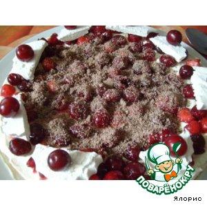 Рецепт: Торт с маскарпоне и ягодами Настроение